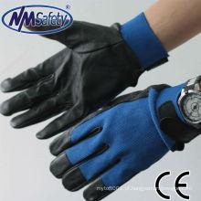Luvas da mão da segurança do couro de NMSAFETY / couro das luvas da motocicleta