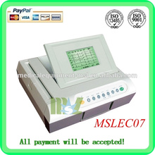 Twelve channel EGC machine Automatic analysis of digital ecg machine(MSLEC07)