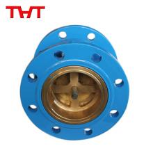 Brida termina 1 válvula de retención de retorno de acero fundido / válvula sanitaria de no retorno