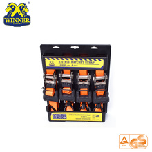 Sangle d'arrimage à rochet orange pour 4 PC