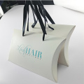 White Paper Pillow Box Hair Paper Box