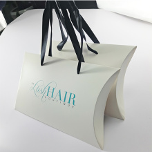 White Paper Pillow Box for Hair Extension