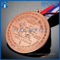 Compétition personnalisée 3d award metal running sport médaille avec ruban