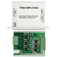 DC12-24V Amplificador de aluminio RGB LED Controlador de luz LED Tono plateado