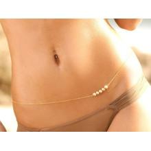 Tendência produtos quentes 2015 pérola cadeia cintura sexy corpo jóias da praia