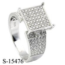Американский стиль 925 Серебряный ювелирных хип-хоп Мужчины или женщины кольцо Rhodiun.