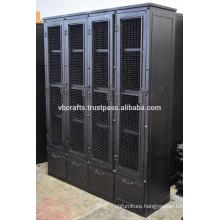Industrial Retro Metal Heavy Cabinet