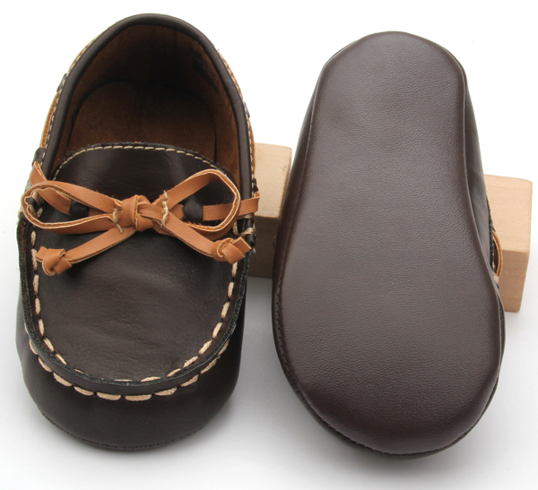 Wholesale Quality PU Leather Boat Baby Casual Shoes