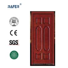 Porte en bois naturel à six panneaux (RA-N032)