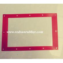 Joint carré plat en caoutchouc rouge fait sur commande