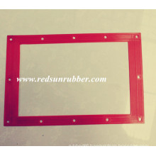 Custom Red Rubber Flat Square Gasket