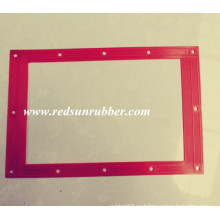 Изготовленный На Заказ Красный Резиновый Плоский Квадратную Прокладку