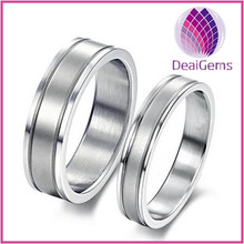 Simple style couple stainless steel ring for wedding