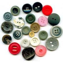 Botón del poliester hecha a mano moda lindo para la ropa
