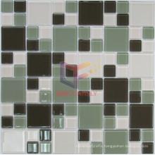 Light Green Mix White Crystal Mosaic Tile (CFC507)