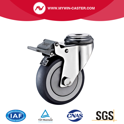 Bolt Hole  Stainless Steel Caster with Brake