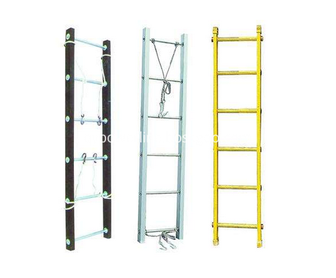 Aluminum adjustable stainless ladder