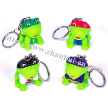 Plastic Toys of Super Hero Frog Keychain