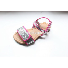 Kids shoes wholesale lovely sandal for girls with glitter shoes