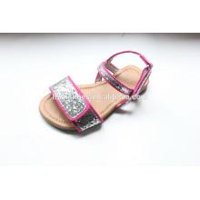 Sapatos de criança sandália adorável por atacado para meninas com sapatos de glitter