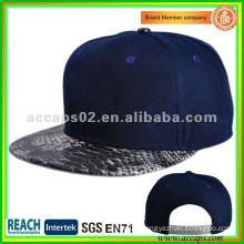 snake skin brim snapback cap