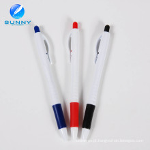 Canetas promocionais canetas de plástico