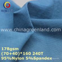 Tecido elástico de Spandex da urdidura de nylon de Tslon com a matéria têxtil de 0,2cm (GLLML255)