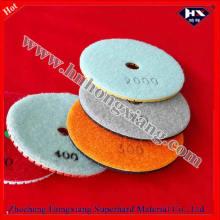 Almofadas de polimento do diamante de 100mm para a pedra abrasiva
