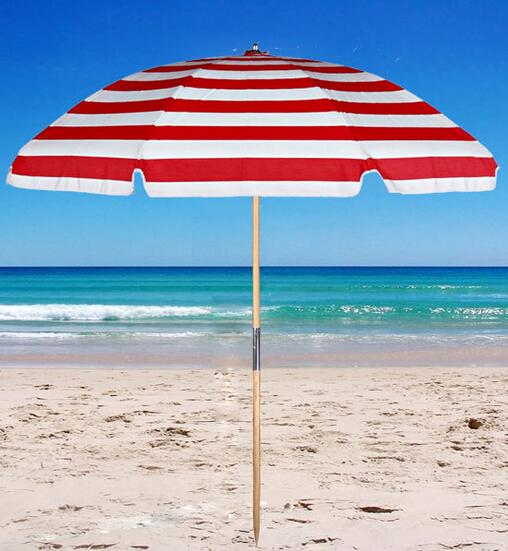 affordable sombrilla de playa recta de rayas blancas y rojas with sombrillas de playa grandes - Sombrillas De Playa Grandes