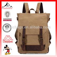 Холст и кожа рюкзак Кемпинг рюкзак bookbag Сумка Модный холст рюкзаки Туризм рюкзак HCB0041