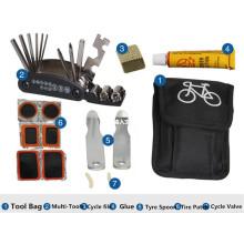 Ensemble de kits de réparation de vélo de nouvelle génération 2016 avec sac portable