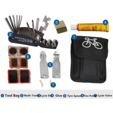 2016 New Bicycle Repair Tool Set Kit with Portable Bag