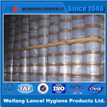 Jumbo Roll Carrier tissue for sanitary napkin