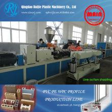 Maquinaria de madeira plástica, WPC linha de produção de perfil, máquinas de perfil de PVC