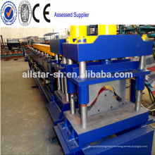 A machine for roof tiles ridge cap roll forming machine