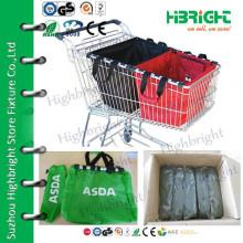 Saco de carrinho reutilizável reutilizável de carrinho de compras
