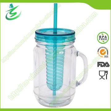 20oz Customized Fruit Juice Mason Jar, with Handle