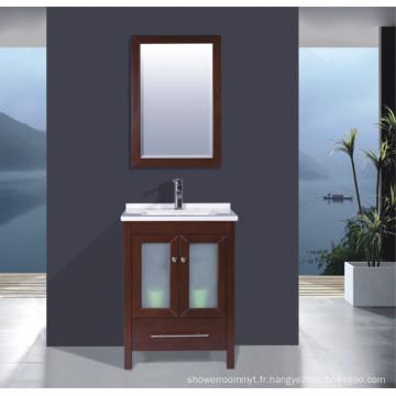 Meuble de salle de bain en bois massif (B-285)