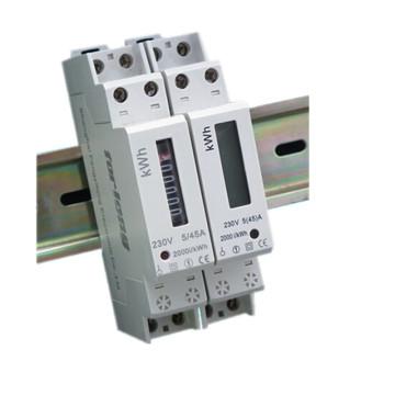 Medidor electrónico elegante del carril DIN de la sola fase 1p