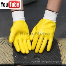 NMSAFETY 13g nylon liner nitrilo guantes totalmente recubiertos con los precios más baratos