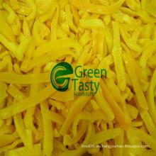 Rebanadas de pimienta amarilla fresca congelada IQF en alta calidad