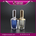 SRS Chine fournisseur grossiste échantillons gratuits 8 ml acrylique carré de luxe vide ongle gel produit conteneur