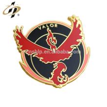 Promocional presente de metal ouro cloisonne esmalte lapela pin personalizado