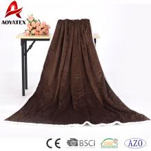 nueva manta de diseño acolchado costura micromink y lana de cordero sherpa manta