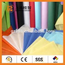 Tissu non-tissé noir spun-collé de pp utilisé dans les vêtements médicaux, hygiéniques, protecteurs, couche-culotte, emballage, agriculture ...
