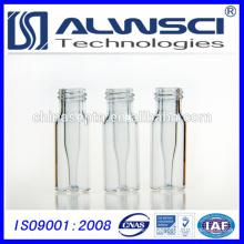 2ml 9-425 HPLC inyector de vidrio transparente Vial con 0,2 ml integrado Micro-inserto de vidrio