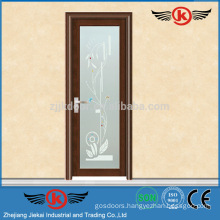 JK-AW9053 Cheap Interior glass door/bathroom toliet aluminum door/glass aluminum door