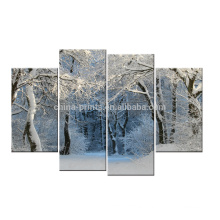 Winter Snow-Covered Canvas Art/Landscape Canvas Print/Stretched Canvas Painting Art