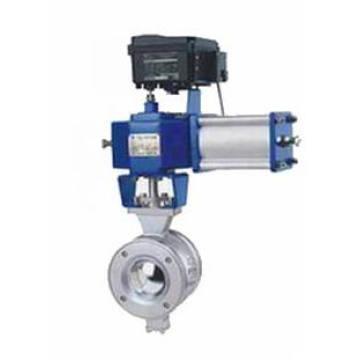 Válvula de bola de control neumático tipo V (GHV)