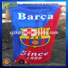 high quality cotton promotional football club beach towel